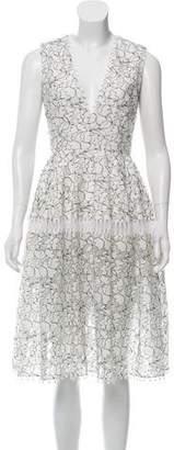 N. Nicholas Floral Midi Dress