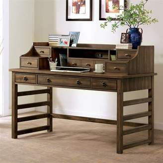 Gracie Oaks Wootton Leg Secretary Desk With Hutch