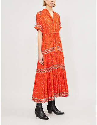 Free People Rare Feelings floral-print woven midi dress