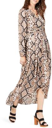 INC International Concepts Python-Print High-Low Maxi Dress