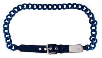 Giuseppe Zanotti Leather-Trimmed Chain-Link Belt