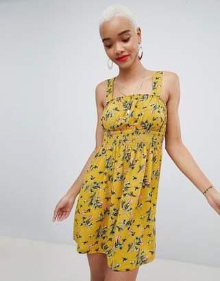 PrettyLittleThing Floral Square Neck Skater Dress