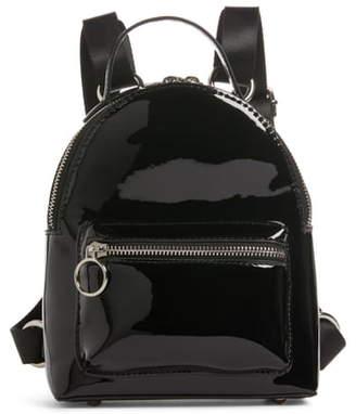 BP x Claudia Sulewski Faux Patent Leather Mini Backpack