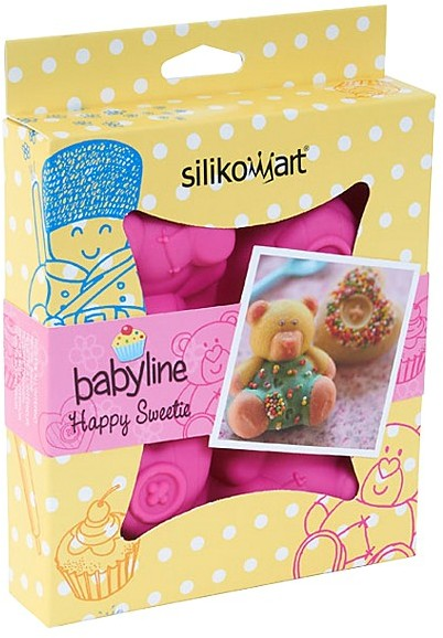 Silikomart Silicone Baby Line Multi Cake Pan, Happy Sweetie
