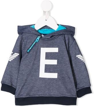 Emporio Armani Kids contrast logo hoodie