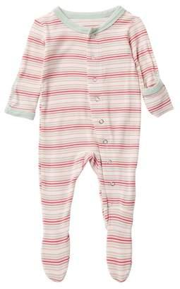 Kickee Pants Printed Girl Desert Stripe Footie (Baby & Toddler Girls)