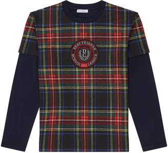 Dolce & Gabbana Layered Tartan Top