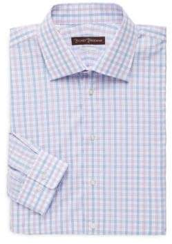 Hickey Freeman Classic-Fit Check Dress Shirt