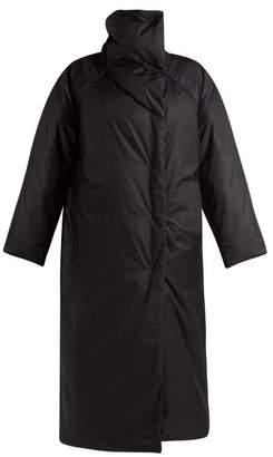 Jil Sander Drawstring Padded Long Coat - Womens - Black