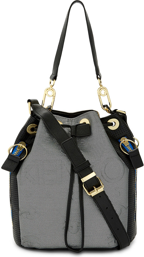 Kenzo Kenzo Kombo neoprene & leather bucket bag