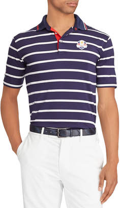 Ralph Lauren Men's Friday USA Ryder Cup Striped French-Knit Golf Polo Shirt