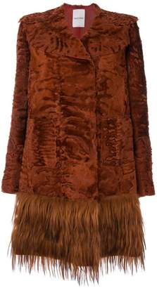 Valentino embossed fur coat