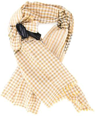 Forte Forte checked bow scarf