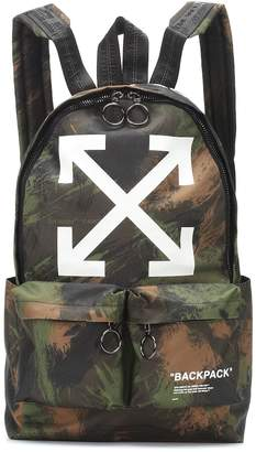 Off-White Off White Printed canvas backpack