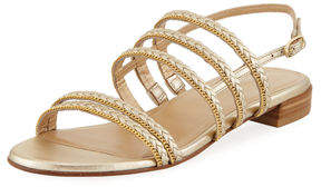 Stuart Weitzman Line Drive Braided Flat Sandal