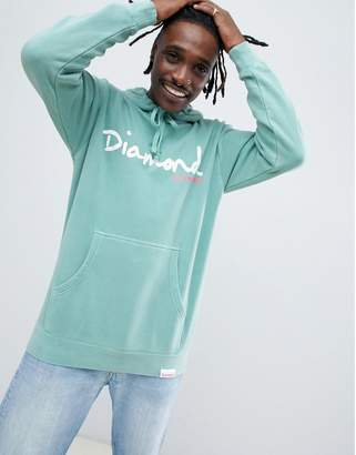 Diamond Supply Co. Hoodie With Script Logo In Blue