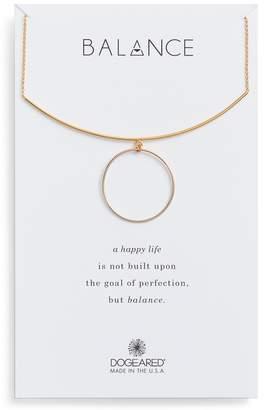 Dogeared (ドギャード) - Dogeared Balance Bar & Ring Pendant Necklace
