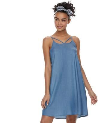So Juniors' SO Strappy Woven Swing Dress