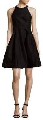 Halston Textured Fit-&-Flare Dress