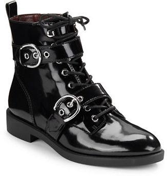 Marc JacobsMarc Jacobs Taylor Patent Leather Buckle Boots