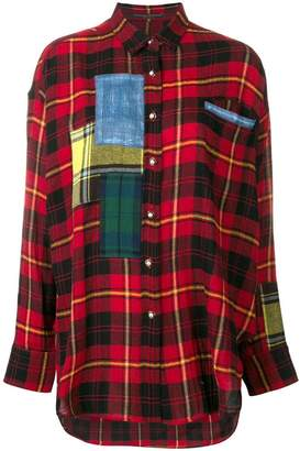 Ermanno Scervino plaid oversized shirt