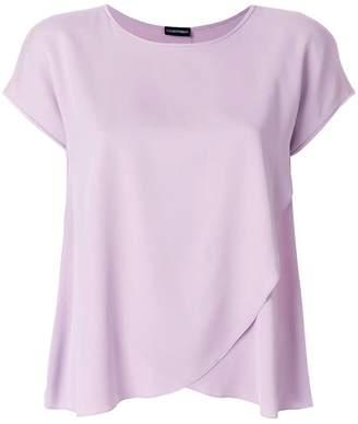Emporio Armani silk draped T-shirt