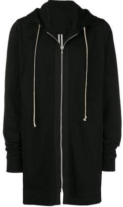 Rick Owens zip front long hoodie