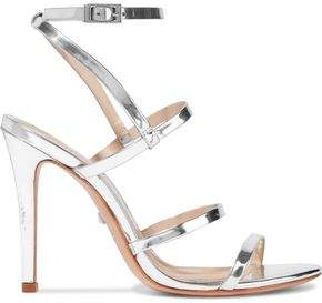 Schutz Ilara Metallic-leather Sandals