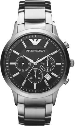 Emporio Armani AR2448 Stainless Steel Bracelet Black Dial Gents Watch