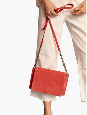 Gerard Darel Box Leather Medium Shoulder Bag