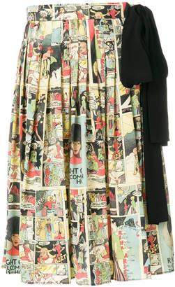 Prada vintage comics print skirt