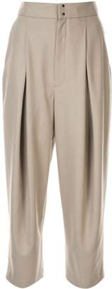 Y's wide leg pleated trousers