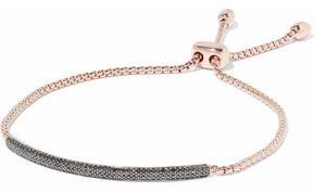 Monica Vinader Fiji 18-Karat Rose Gold-Plated Sterling Silver Diamond Bracelet