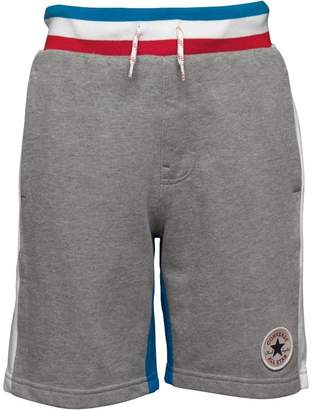 Converse Junior Boys Colour Block Shorts Dark Grey Heather