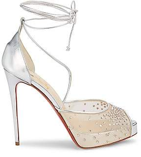 Christian Louboutin Women's Maia Labella Crystal-Embellished Platform Sandals