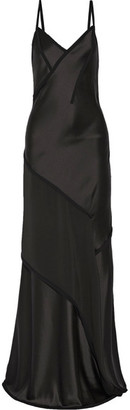 Jason Wu - Crepe-paneled Silk-satin Gown - Charcoal $3,195 thestylecure.com