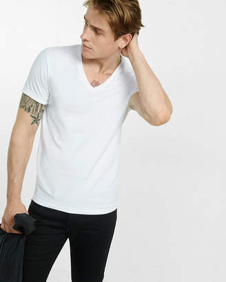 Express Slim Stretch Deep V-Neck Tee