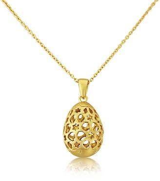 Auree Jewellery Chelsea Yellow Gold Vermeil Filagree Egg