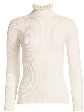 Frame Women's Ruffle Turtleneck Sweater