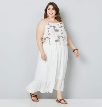 Avenue Plus Size Embroidered Maxi Dress