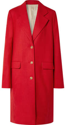 The Row Teymon Oversized Grain De Poudre Wool Coat - Red