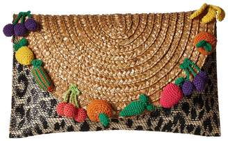 Betsey Johnson Fruit Straw Clutch Clutch Handbags
