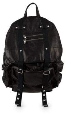 Balmain Leather Satchel Backpack