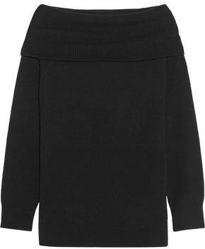 Alexander Wang Off-The-Shoulder Wool And Cashmere-Blend Sweater