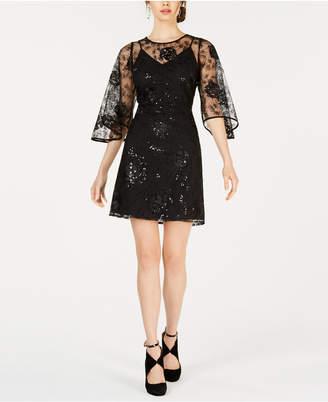 Nanette Lepore Nanette by Tulip-Sleeve Sequin Dress