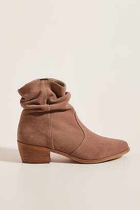 Anthropologie Barcelona Slouchy Suede Ankle Boots