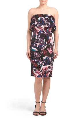 Made In USA Floral Printed Bodycon Dress