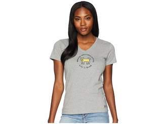 Life is Good Classic Wag Rocket Crusher Vee Women's T Shirt