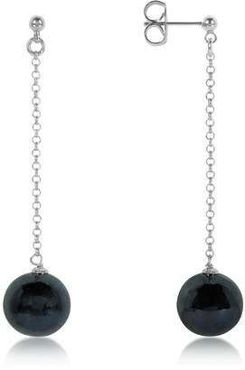 Antica Murrina Veneziana Perleadi Black Murano Glass Bead Earrings