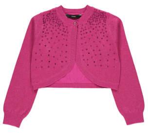 George Pink Sequinned Glitter-Effect Shrug